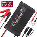 5 Stages 10A Pulse Repair Car Battery Charger Automatic Smart Wet Lead Acid Battery Power Charging Auto 110v 220v 12v 24v