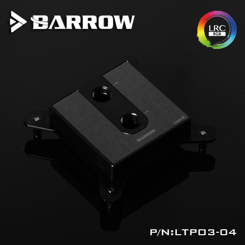 Barrow CPU Water Cooling Block use for INTEL Socket LGA115X POM 0.4MM Microchannels free shipping universal cpu opener aqua novas water system nova cpu cap lga115x supports the 7 generation opener artifact