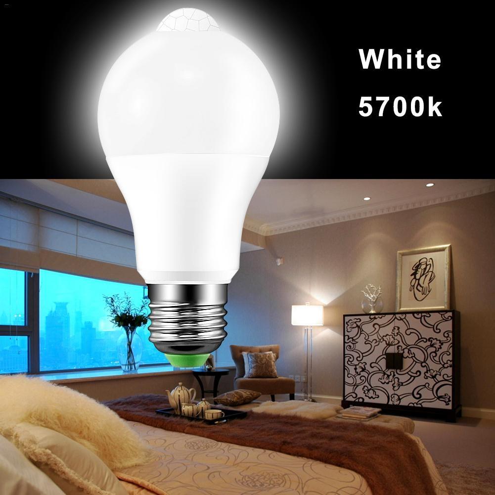 LED Bulb Light Smart Motion Infrared Human Body Light Bulb Smart Motion Sensor Light Bulb Night Lamp for Home Street Hallway
