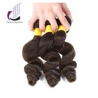 SHENLONG HAIR Loose Wave 1 Piece 8 26 Inch Non Remy Malaysian Hair Weave Bundles 100% Natural Color Human Hair Hair Extension