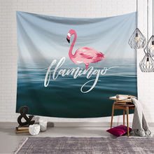Tropical Flamingo Wall Hanging Tapestry Pink Animal Watercolor Cloth Tapestries Printed Blanket Towel for Home Yoga Mat