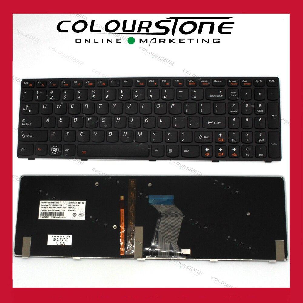 Nouveau clavier d'ordinateur portable us Original installer pour LENOVO Y580 clavier d'ordinateur portable rétro-éclairé de haute qualité