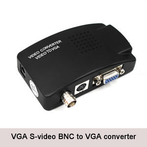 BNC to VGA S-video Input to Video Converter PC VGA to VGA Out Adapter With dc cable