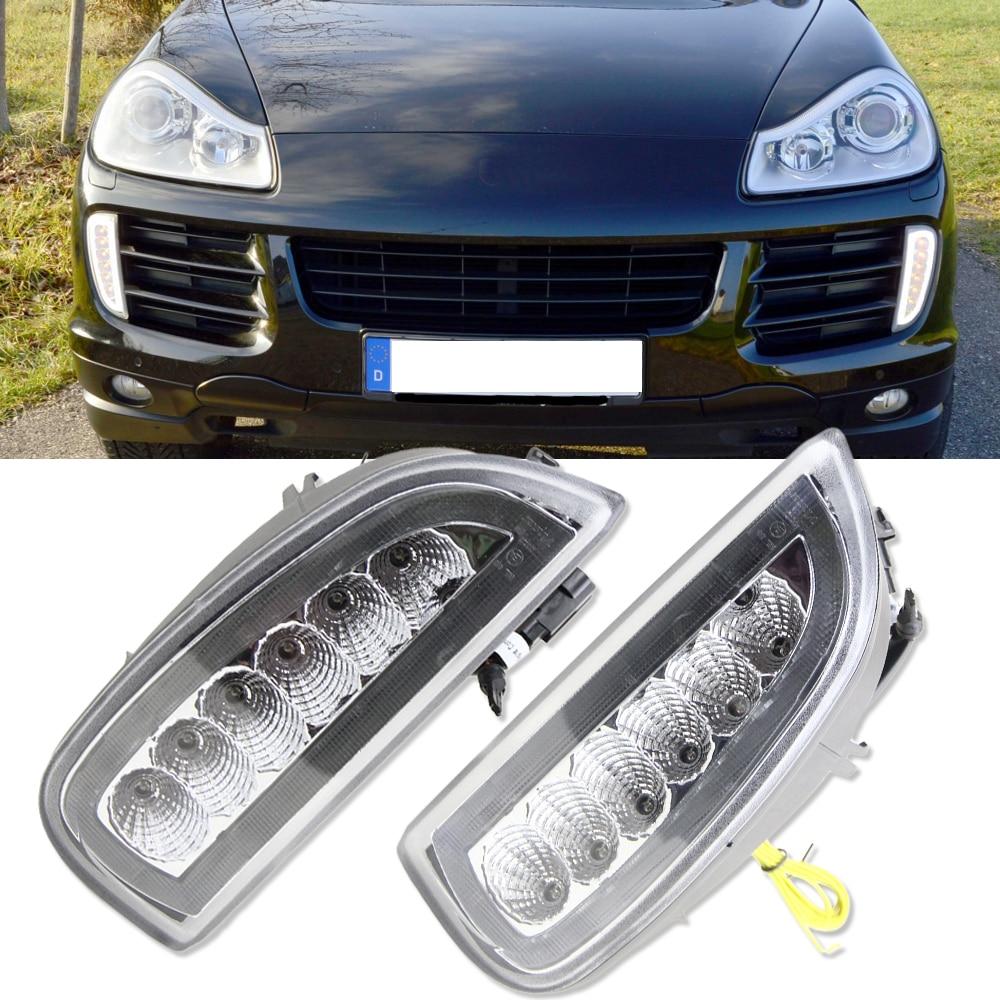 1 Full set White Yellow LED DRL LED Turn signals position light for Porsche Cayenne I