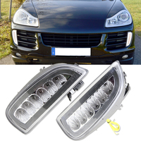 1 Full Set White Yellow LED DRL LED Turn Signals Position Light For Porsche Cayenne I