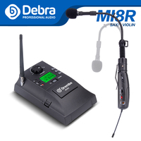 Portable UHF Instrument Wireless Microphone System with Receiver & Transmitter 32 Channels for Saxophone Violin
