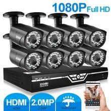 ZOSI 8-КАНАЛЬНЫЙ Оповещение По Электронной Почте Наблюдения Комплекты 1080 P АХД DVR 8 ШТ. 2.0MP ИК Ночного Видения Камеры Безопасности Видео CCTV система