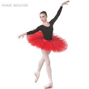 Image 3 - 전문 리허설 투투 어린이 및 성인 발레 댄스 하프 투투 스커트 7 층 뻣뻣한 얇은 명주 그물 Pancak 투투 BLL001