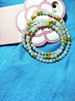 Grade A Jade Charm Women Pure Manual Weaving Three Color 6 Mm Beads Bracelet Also Can