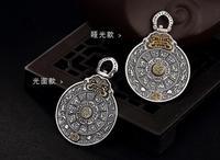 Sterling S925 925 silver charm Buddha's warrior attendant Chinese Zodiac ethnic Pendant