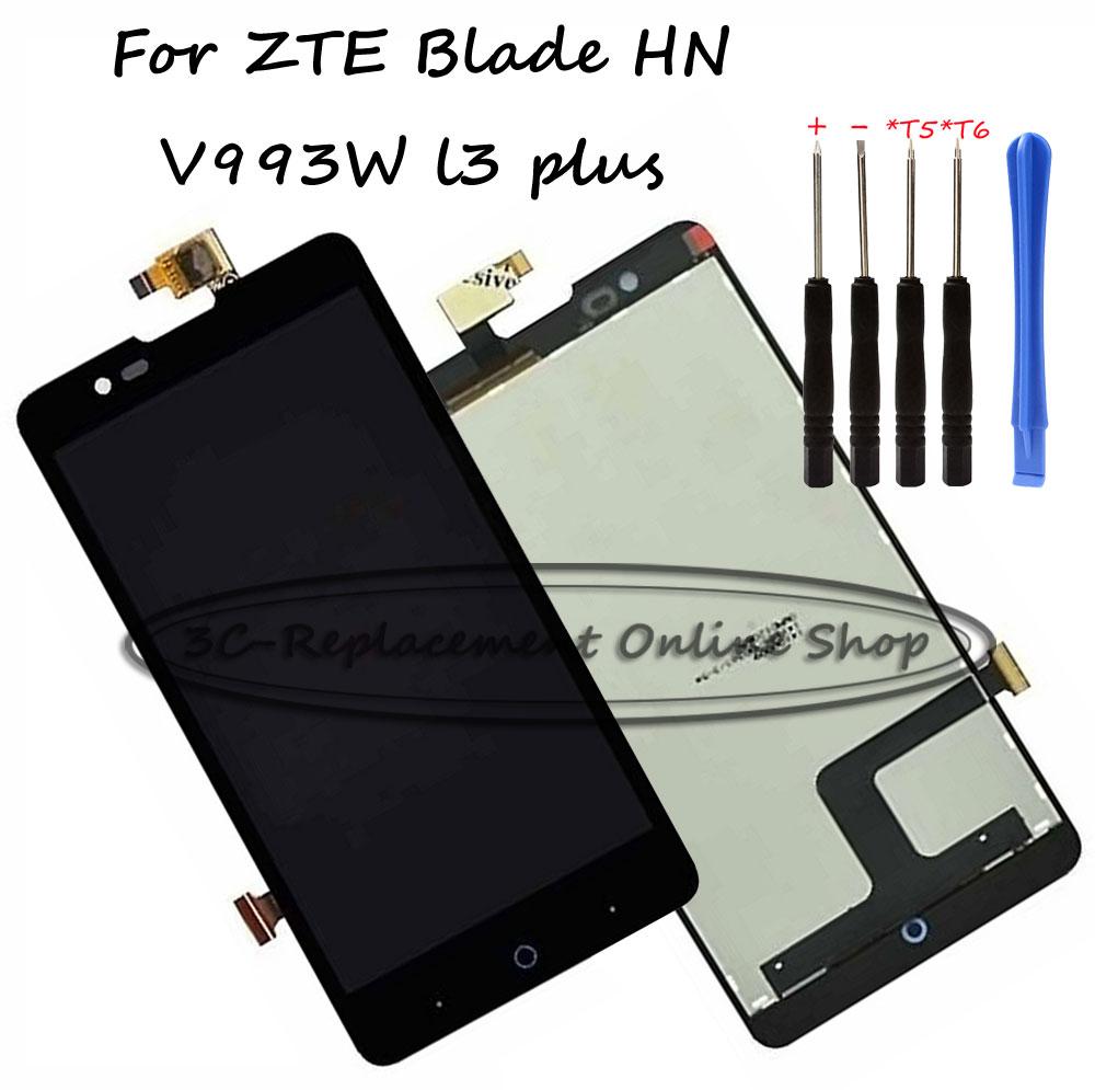 100 test black full for zte blade hn v993w l3 plus lcd. Black Bedroom Furniture Sets. Home Design Ideas