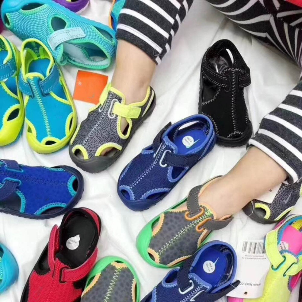 High Quality Original Brand Kids Summer Casual Sandals With Shoes Box Hook And Loop Beach Sandals For Boys Girls Sandals Children's Shoes