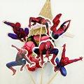 Набор из 24 штук, с изображением Человека-паука и других десертов со вставленной картой продукция с изображением торта украшения кекс выбира...