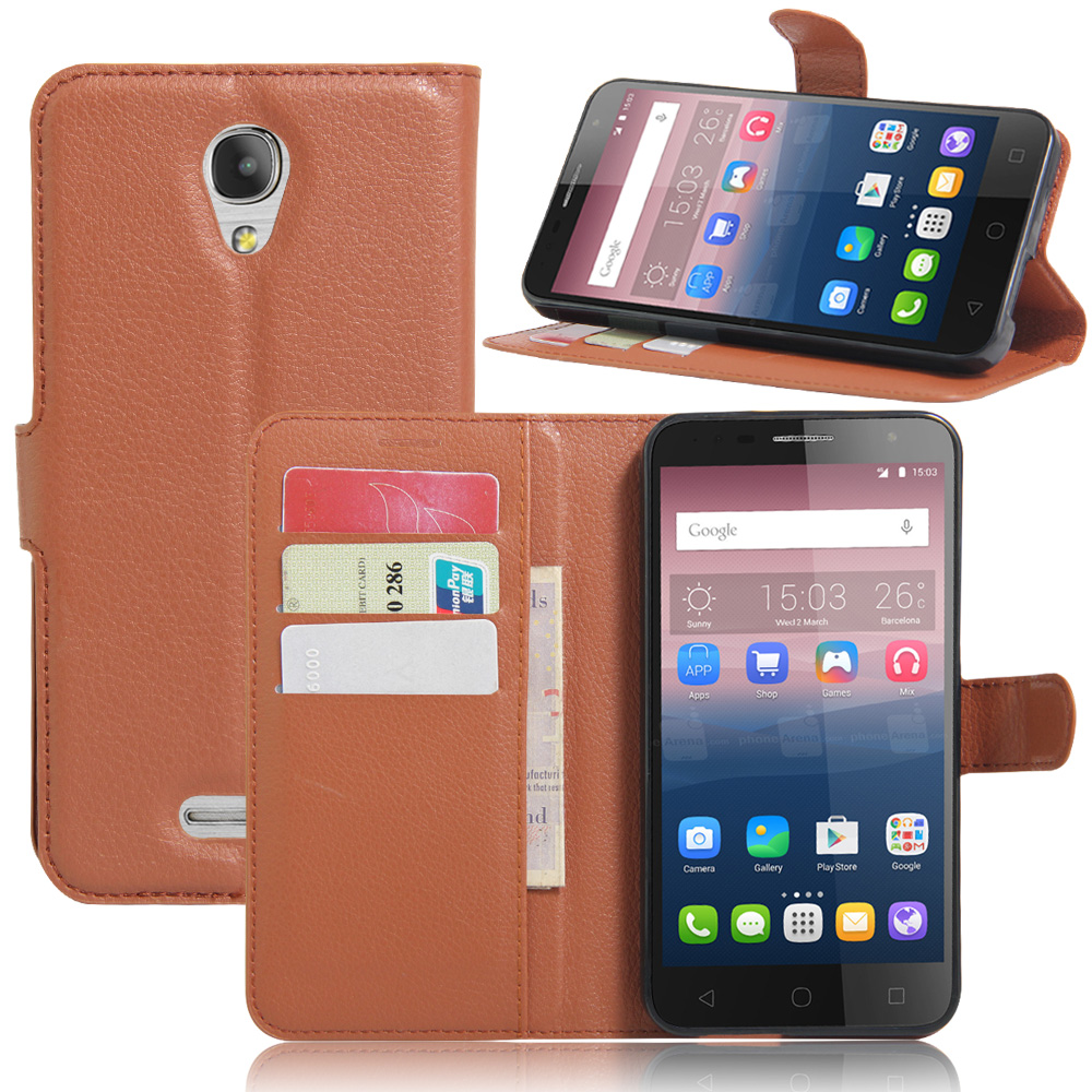 For Alcatel POP 4 Plus 5056D Luxury Wallet PU Leather Case For Alcatel POP4 plus Stand Flip Card Hold Phone Cover Bags