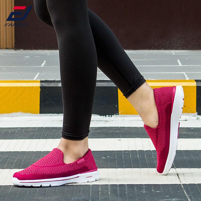 FANDEI 2017 mesh bernapas sepatu lari untuk wanita dan pria sneakers - Sepatu kets - Foto 2