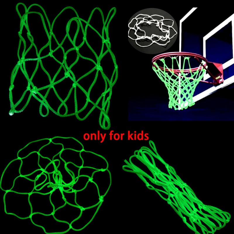 2019 Glow In Hoop Boy Basketball Shoot For Kid Dark Outdoor Training The Sports Net Nylon Gift