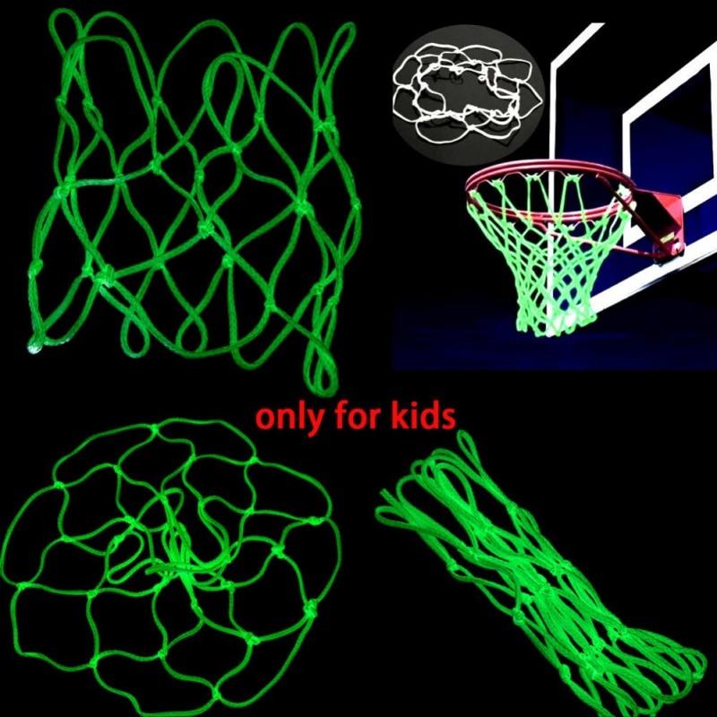 2019 Glow In Hoop Boy Basketball Shoot For Kid Dark Outdoor Training The Sports Net Nylon Gift