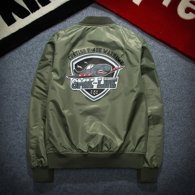 P-40E Fighter Big Shark Men's Jacket MA1 Bomber Jacket MEN Kanye Jackets Hip Hop Pilot Windbreak Kanye West Jacket Men Spring
