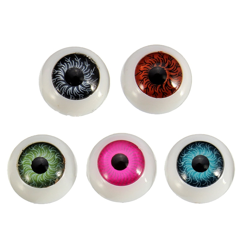 100pcs Box 12mm Doll Eyeballs Half Round Acrylic Eyes For Diy Doll