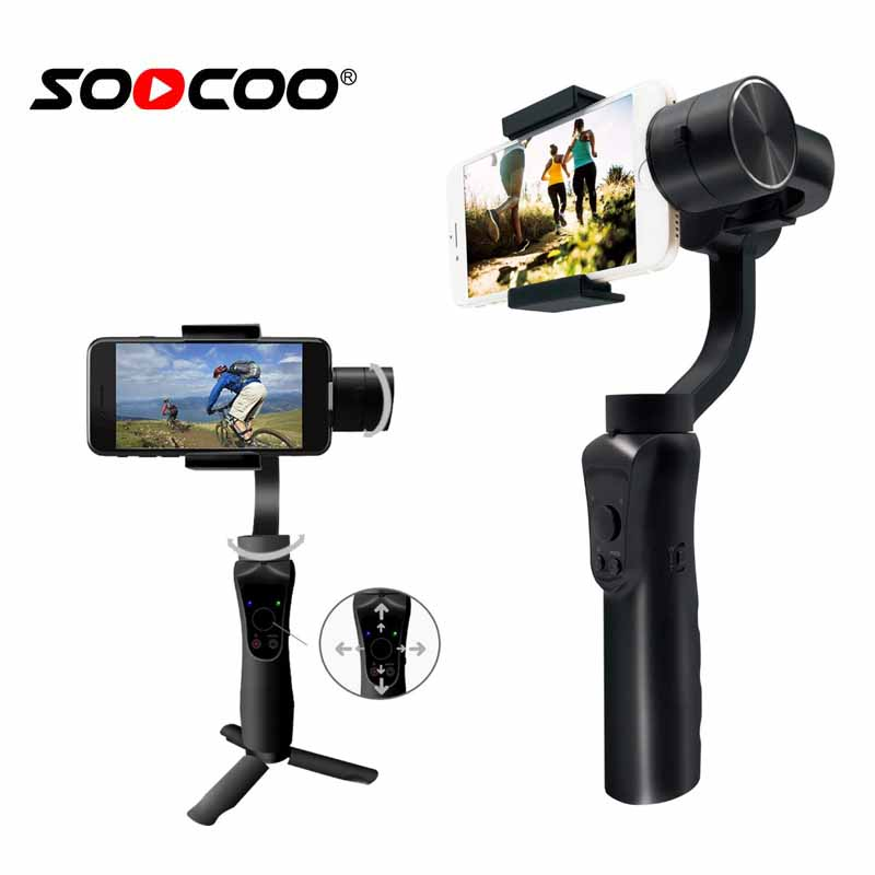 SooCoo Mobile 3 axis stabilizer Handle Gimbal for iphone Samsung Huawei Xiaomi soomth (Phone not include )Bluetooth APP Control health monitoring bluetooth sync children s adults smart watch phone for iphone samsung huawei lg htc xiaomi so on smartphone