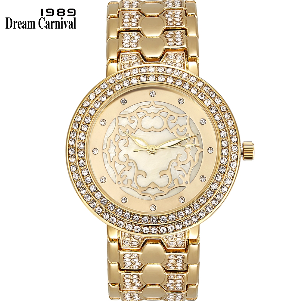 Dreamcarnival 1989 New Arrived Ladies Quartz Watches for Women Clock Crystal Index 3 Hands Party Must Have Gift Wholesale A8359