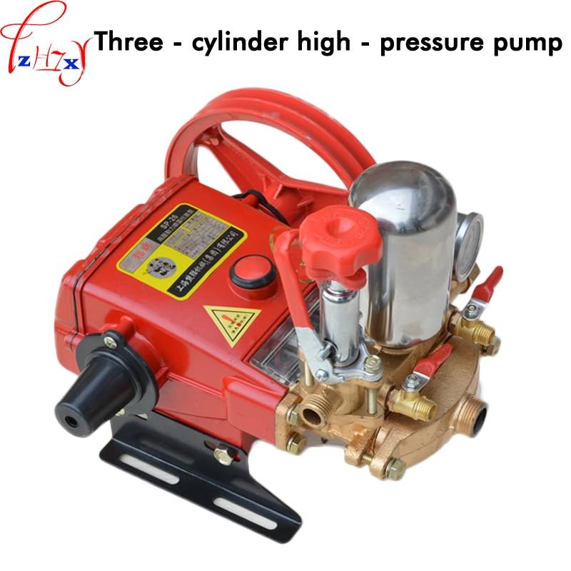 26 type three cylinder electric high pressure pump agricultural spray machine pump head spray pump 12 22L/min