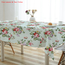 Free Shipping Tablecloths New Pastoral Floral Thicker Cotton Linen  Tablecloth Rectangular Round Table Cloth Table Cover