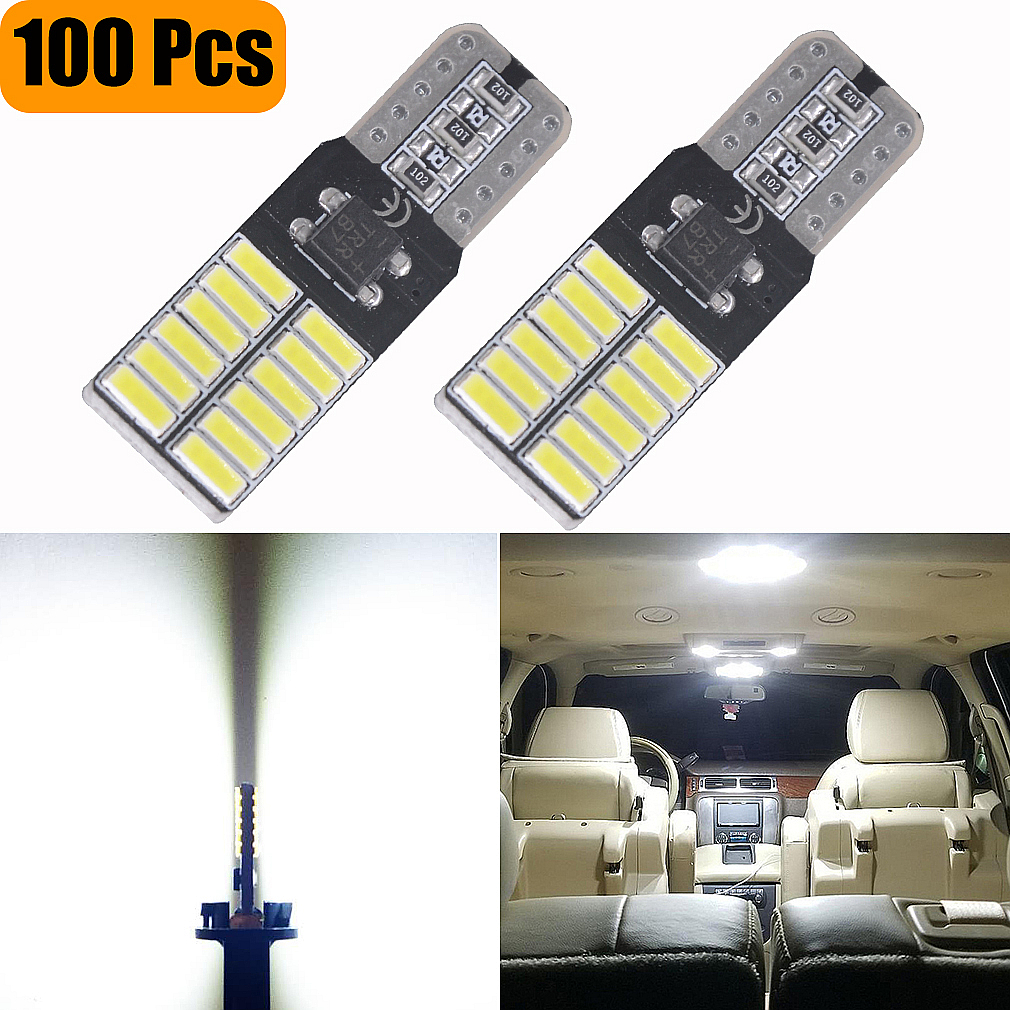 100 PCS Super Helle T10 LED 194 501 W5W 24 SMD 4014 Canbus Fehler Free Car Innen Lichter Auto-Clearance lampen DC 12 v