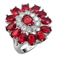 Hot Sale Exquisite Garnet 925 Sterling Silver Good Quality Ring Beautiful Jewelry Size 6 7 8