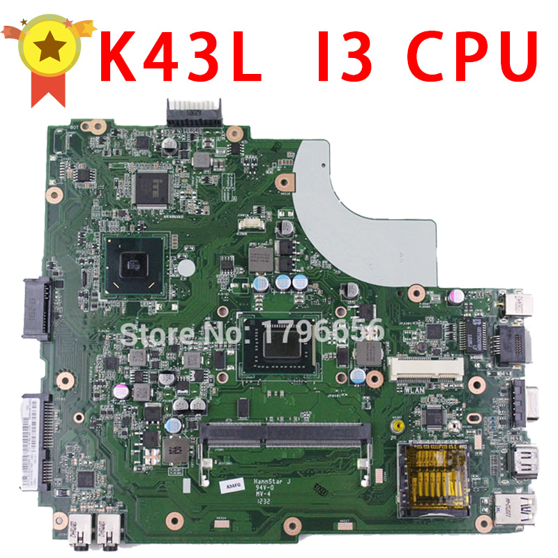 все цены на 100% original K43L  Laptop Motherboard with I3 CPU tested well free shipping онлайн