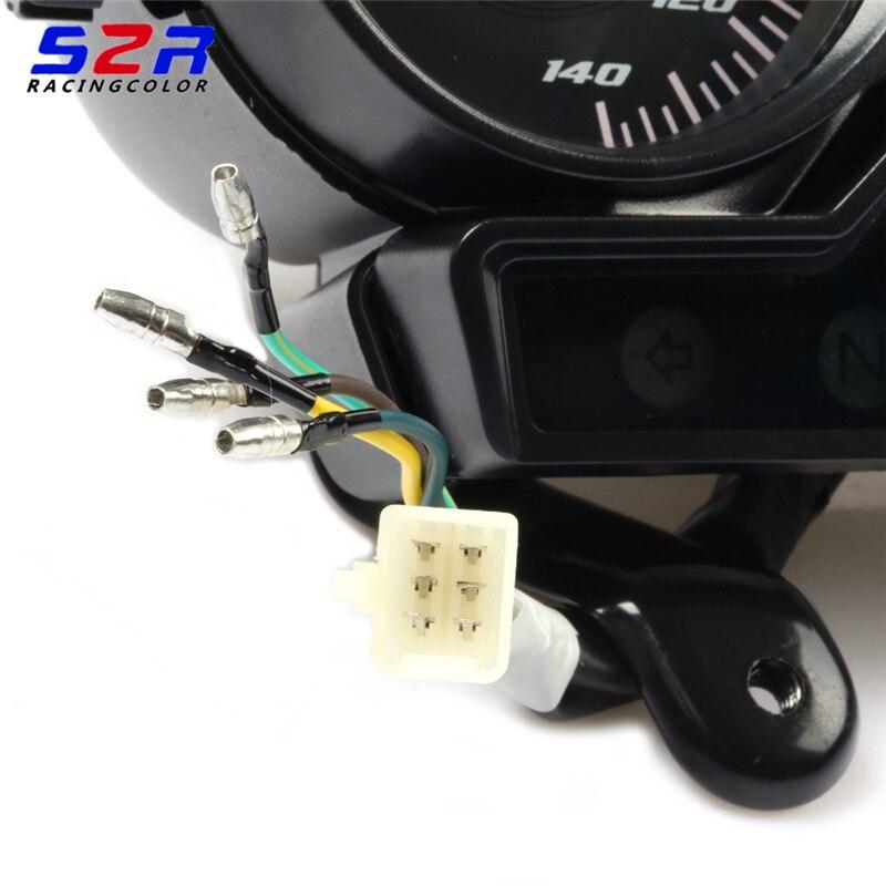 オートバイヤマハ YBR125 YBR YB 125 18K YBR125K スピードメーターメーターゲージモトタコ楽器なしギアモニター  グループ上の 自動車 &バイク からの 楽器 の中 3