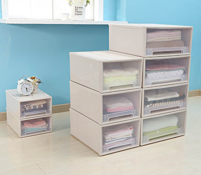 Plastic Storage Drawer Transparent Clothes Storage Drawers