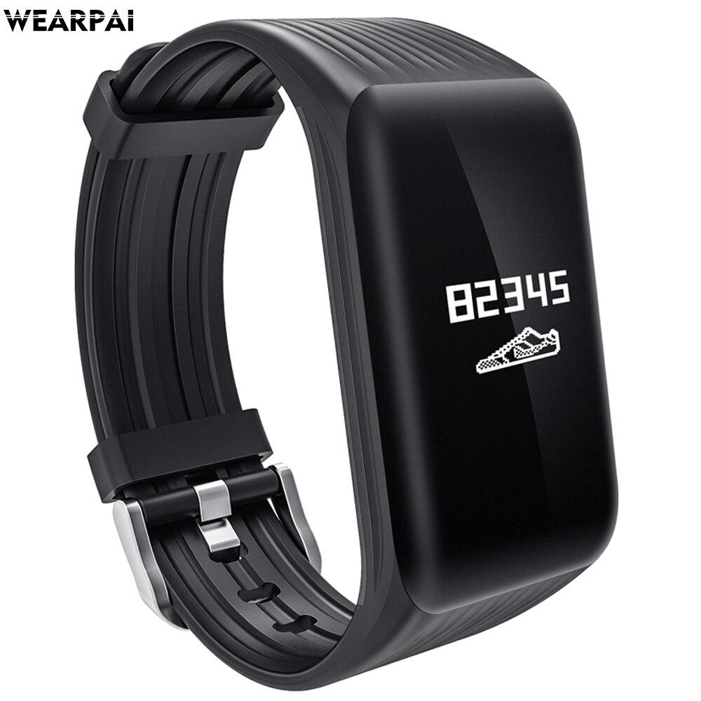 Wearpai K1 continue moniteur de fréquence cardiaque Smart Bracelet Fitness Tracker Smart Bracelet Moniteur de Fréquence Cardiaque Étanche Sport
