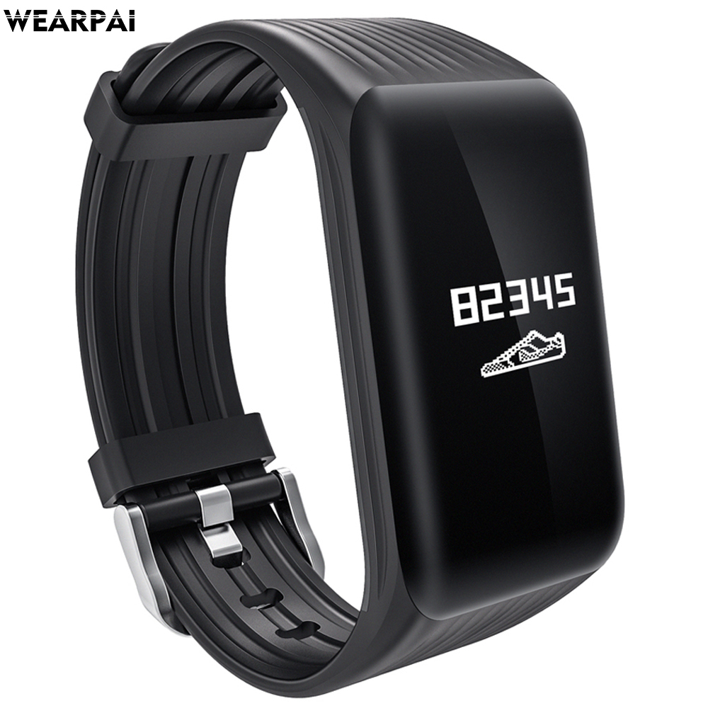 Wearpai K1 continuous heart rate monitor Smart Bracelet Fitness Tracker Smart Bracelet Heart Rate Monitor Waterproof Sports цена 2017