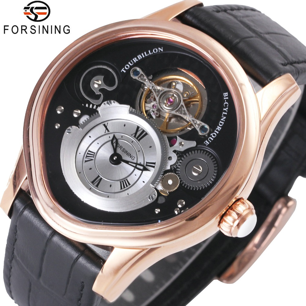 FORSINING Casual Fashion Men Auto Mechanical Watches Top Brand Luxury Leather Strap Roman Numerals Tourbillon Man WristwatchesFORSINING Casual Fashion Men Auto Mechanical Watches Top Brand Luxury Leather Strap Roman Numerals Tourbillon Man Wristwatches