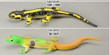 high -quality solid pvc figure Genuine simulation model toy day Geckosalamander lizard 2 pcs/set
