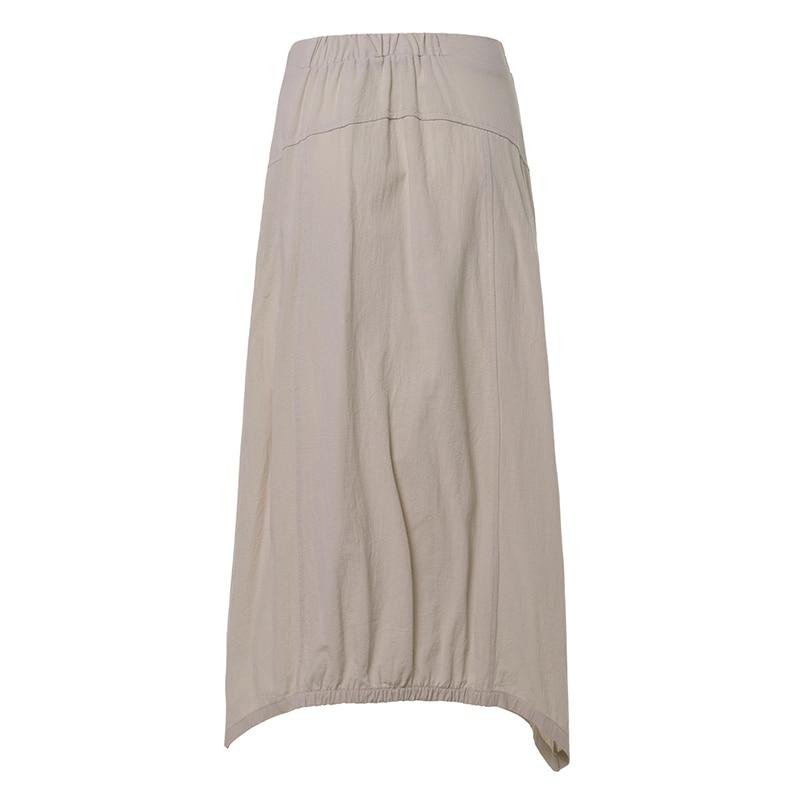 Celmia Vintage Women Maxi Skirts 19 Summer Casual Loose High Waist Asymmetrical Linen Skirt Plus Size Long Pleated Beach Skirt 13