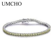 48ffc73441f1 UMCHO de lujo pulsera de peridoto para las mujeres de la joyería de la plata  esterlina 925 piedra romántica boda joyería de pied.