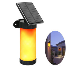 Street Outside Lights Solar Light Torch Human Body Induction Flame Lights Waterproof Flickering LED Simulated Flame Wall Lamp(China)