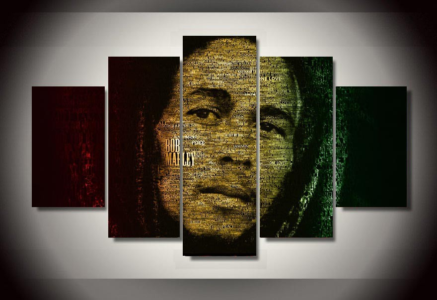 Wall Art Bob Marley Painting By Numbers Room Decor Print Poster Picture Canvas Decoration Unframed 5 Pieces/set