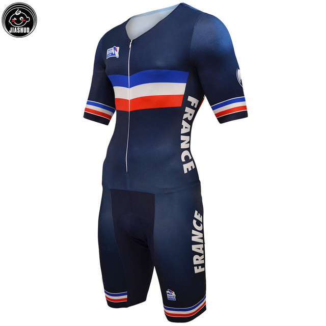 5462fa2ae NEW France Short style SKINSUIT Classical Team Bike Cycling Sets / Wear  Jersey SETS Breathable Gel Pad JIASHUO Full Lycra