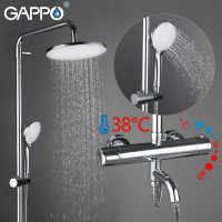 GAPPO Shower Faucets bath shower head bathroom waterfall shower mixer set bathtub shower panel faucet wall mouneted brass tap