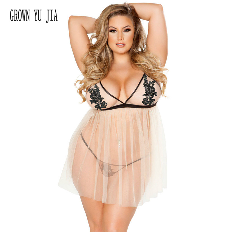 Novelty & Special Use Erotic Lingerie Night Gown Porno Mesh Yarn Sling Dress Sexy Camisones Plus Size Set Woman Night Sleepwear Hot Babydoll 4xl 5xl To Assure Years Of Trouble-Free Service
