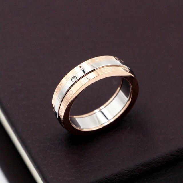 Купить женское кольцо с календарем и датой из титановой стали классическим