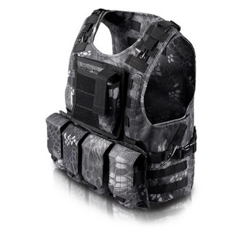 Ny camouflage jagt militær taktisk vest Wargame Body Molle rustning - Sikkerhed og beskyttelse - Foto 2