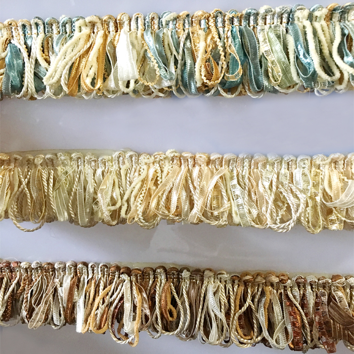 12Meters/lot 5cm Wide 7colors Fringe Lace Trims DIY Sofa Pillow Curtains Fringed Edge Bedspread Cushion Ribbon Accessories W509