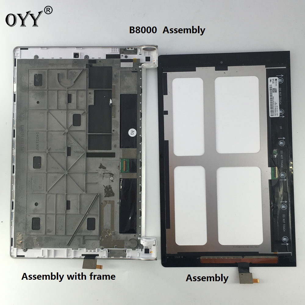 LCD Display Panel Screen Monitor Touch Screen Digitizer Glass Assembly with frame 10.1 for Lenovo Yoga 10 B8000 Tablet pc 10 1inch lcd with touch for lenovo yoga tab 3 yt3 x50l lcd display touch screen digitizer glass lens assembly