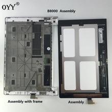 ЖК-дисплей Дисплей Панель Экран Мониторы Сенсорный экран планшета Стекло сборки с рамкой 10.1 «для Lenovo Йога 10 B8000 Планшеты PC