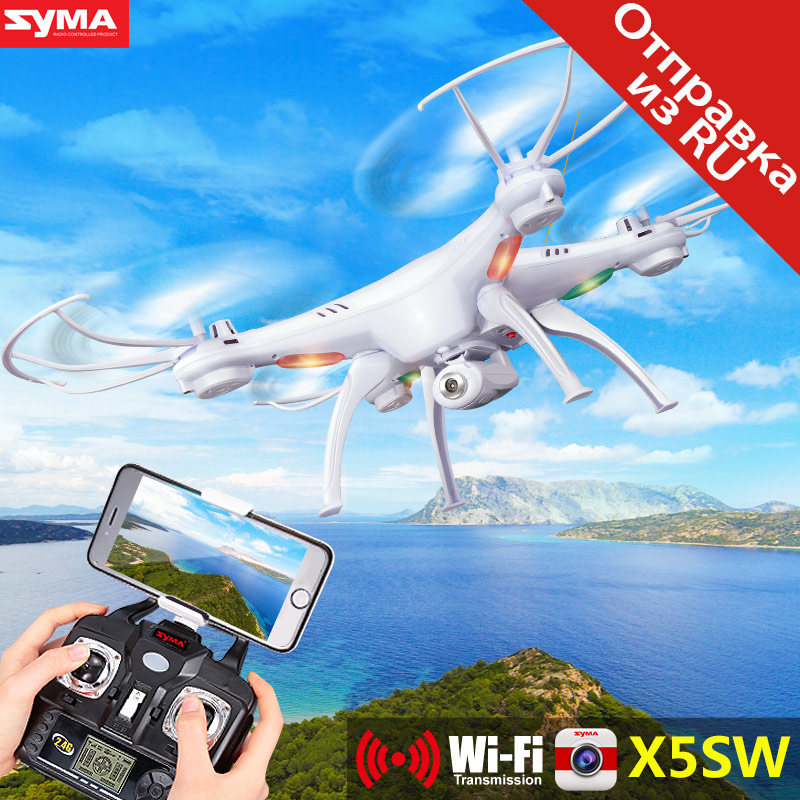 SYMA FPV X5SW Drone W Camera Quadcopter Wifi Real Time Headless Dron RC Helicopter Quadrocopter X5SC