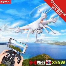 Syma x5sw drone fpv w/cámara quadcopter wifi en tiempo real sin cabeza dron rc helicóptero quadrocopter x5sc drones aviones